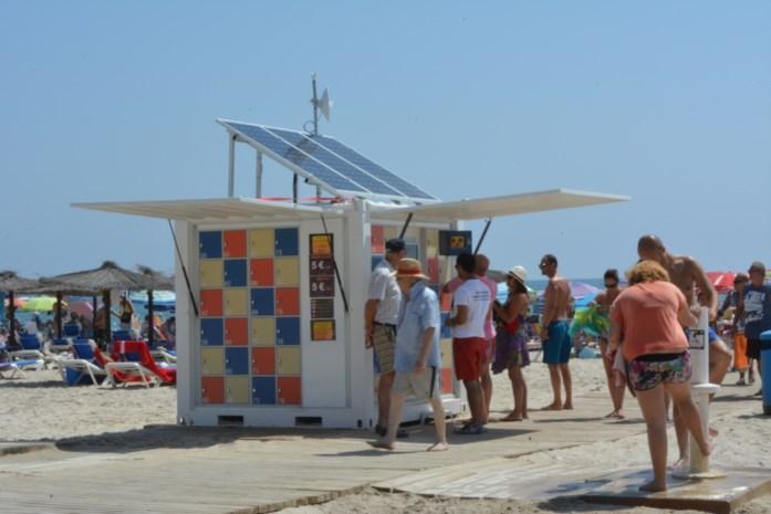 Antwerpse lockers op Spaans strand