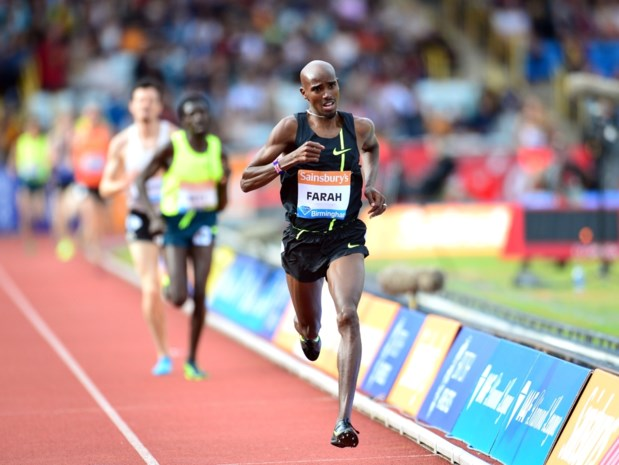 Mo Farah pakt Europees record op 2 mijl