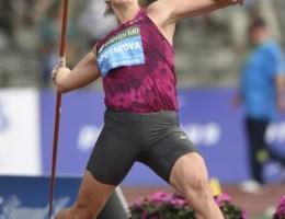Tsjechische speerwerpster Barbora Spotakova wint met beste wereldjaarprestatie