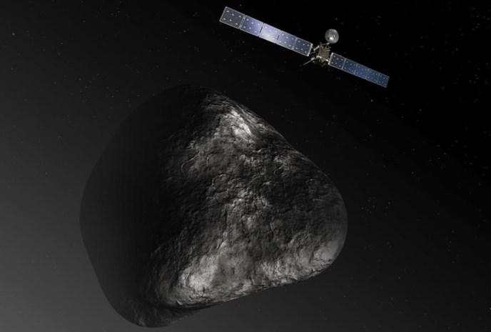 Blik op de ruimte: Komeet in UV