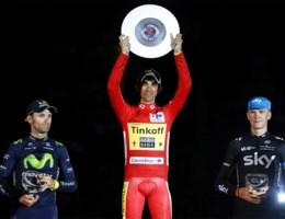 Malori wint tijdrit, Contador eindwinnaar