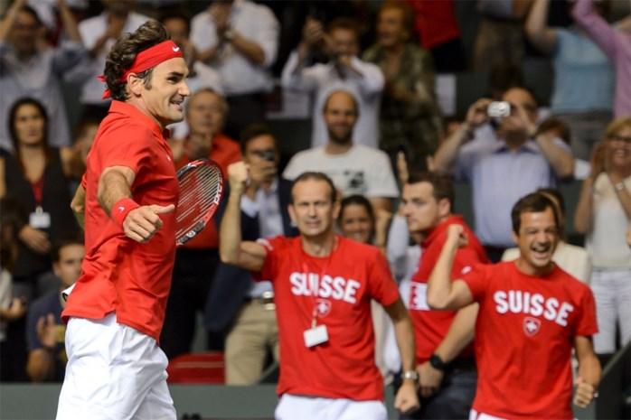 Zwitserland dankzij Federer naar eerste Daviscup-finale in 22 jaar