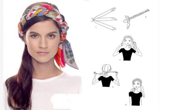 Vier manieren om je foulard te knopen