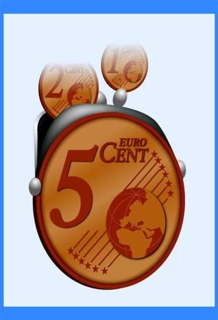 Dit pictogram toont u welke winkels afronden op vijf cent