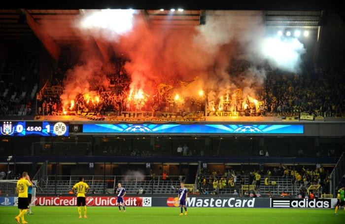 Dortmund moet sanctie vrezen na vuurwerk in Anderlecht