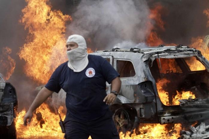 Betogers in Mexico steken regioparlement in brand