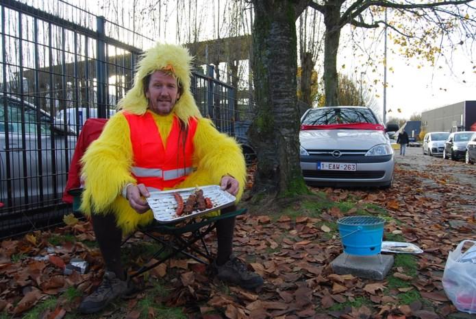 'Kip' Philippe zorgt voor origineel protest