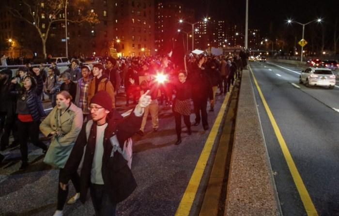 Tweede nacht van protest in New York