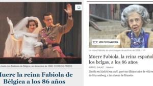 'Voormalige koningin van België overleden'