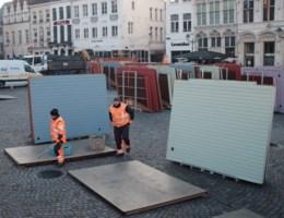 Opbouw Mechelse kerstmarkt en spiegeltent gestart