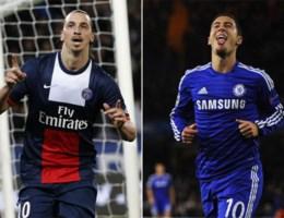 Loting Champions League: Hazard tegen Ibrahimovic, Kompany tegen Messi