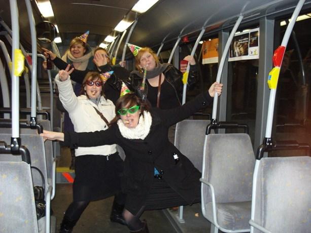 Tickets feestbussen oudejaar
