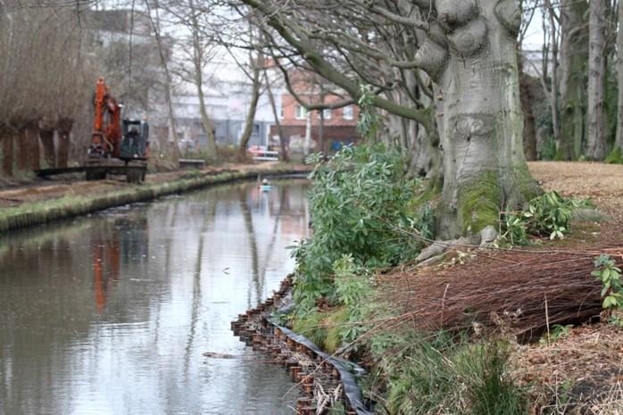 Werken gestart aan de vijver en grachten van het Bouckenborghpark