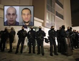'Zwaarbewapende schutters Charlie Hebdo gelokaliseerd in Noord-Frankrijk'