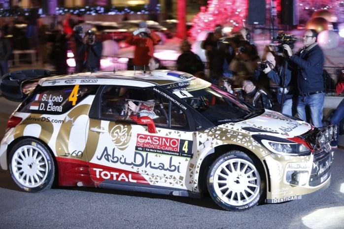 Loeb leidt na eerste dag in Monte Carlo, Neuville pas achtste