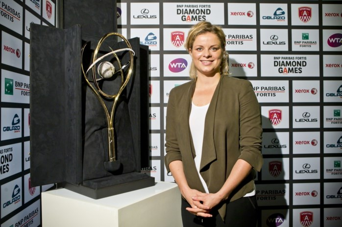 Kim Clijsters speelt 'Belgian Legends Doubles' op Diamond Games