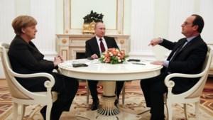 Gematigd optimisme na gesprek Merkel en Hollande met Poetin