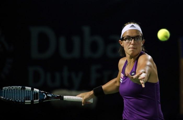 Kirsten Flipkens tegen Omaanse in Doha
