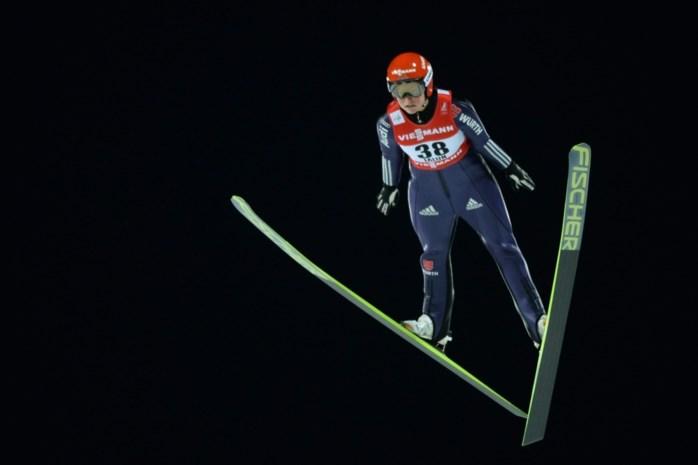 Carina Vogt wereldkampioene op de kleine schans