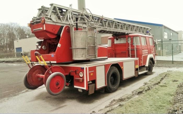 Ladderwagen brandweer wordt verkocht
