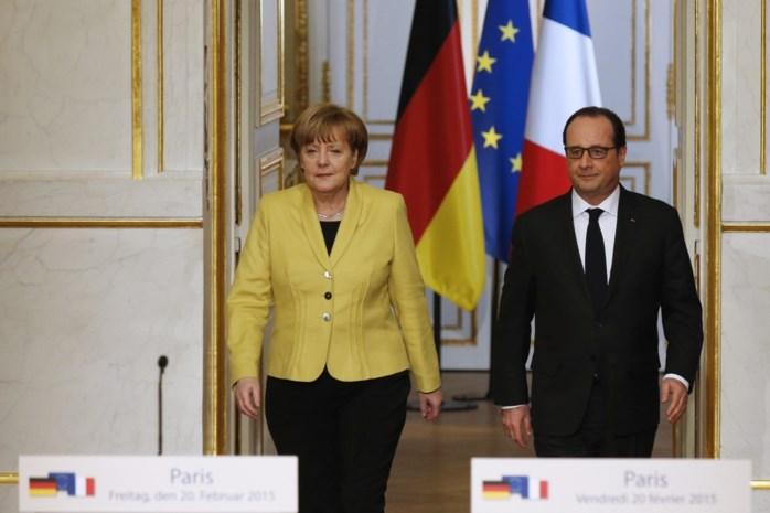 Merkel en Hollande praten over Minsk2