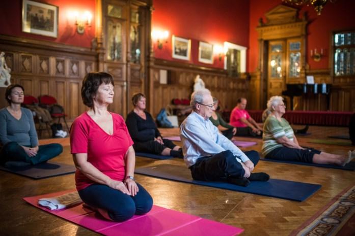 Yoga in het districtshuis
