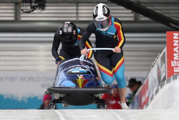 Belgian Bullets vijfde na twee runs op WK bobslee