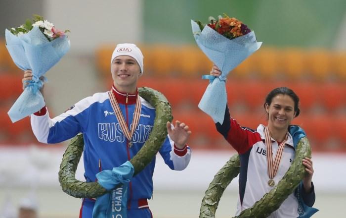 Rus Kulizhnikov en Amerikaanse Bowe domineren op WK schaatsen sprint