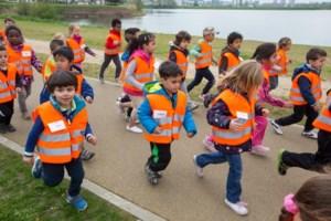 Kleuterschool de @penstaartjes traint mee voor de 10 Miles