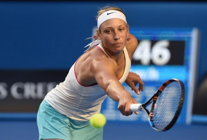 Yanina Wickmayer bereikt tweede ronde in Trnava