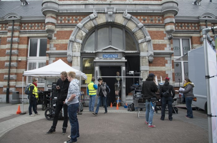 Eén filmt 'Tytgat Chocolat' in stationsgebouw