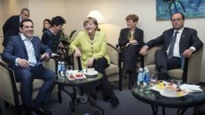 Merkel en Hollande praten meer dan twee uur met Griekse premier