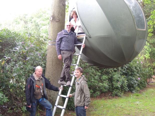 Test boompitten uit tijdens Pittig Tuinfeest