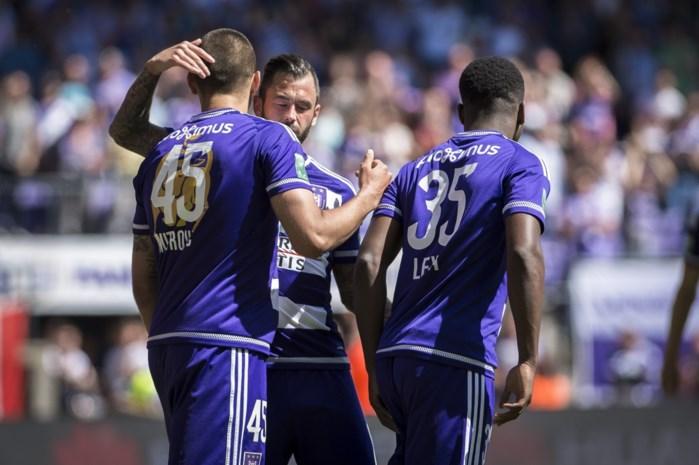 Anderlecht blijft derde ondanks zege tegen kampioen AA Gent