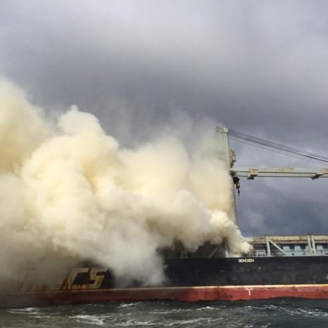 Mestschip in Noordzee dreigt te ontploffen