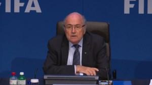 Blatter niet mals op persconferentie: 'Ik vergeef, maar vergeet niet'