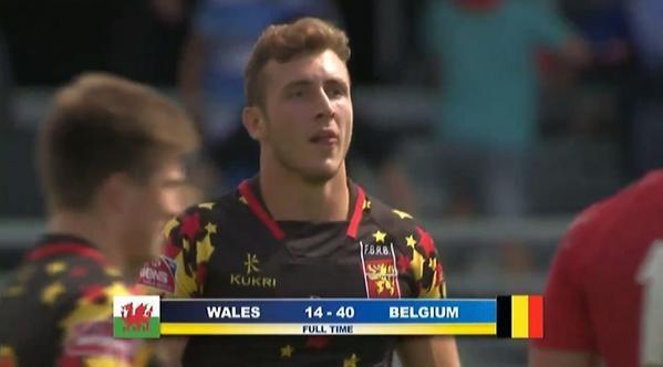 België klopt rugbyland Wales met 40-14