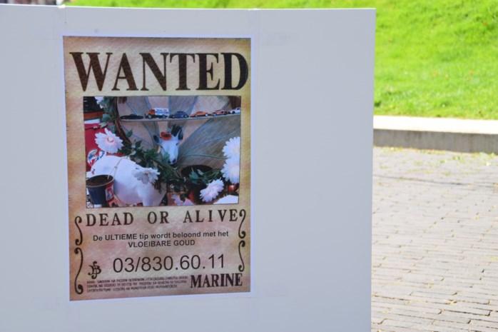 Jeugdhuis protesteert met ludieke actie tegen diefstal geitje