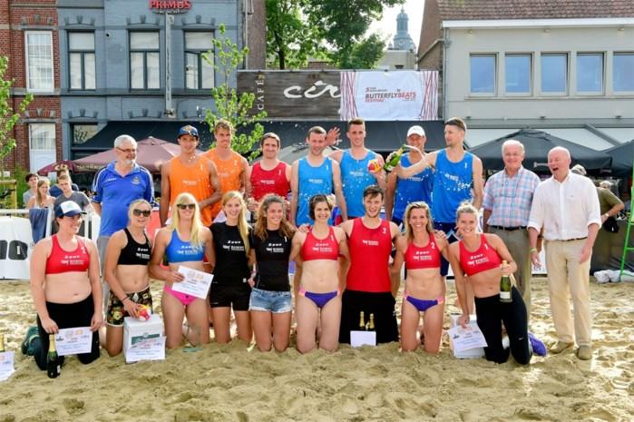 Douwen-Adriaensen en Van Bree-Verstrepen winnen BK beachvolley in Roeselare