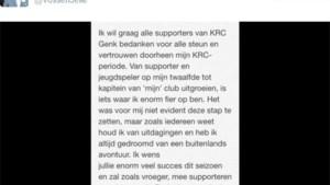 Jelle Vossen neemt met emotionele boodschap afscheid van 'zijn' club