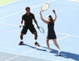 Martina Hingis en Leander Paes winnen gemengd dubbel op US Open