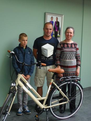 Stefan Tops laureaat fietsactie 'Met belgerinkel naar de winkel'