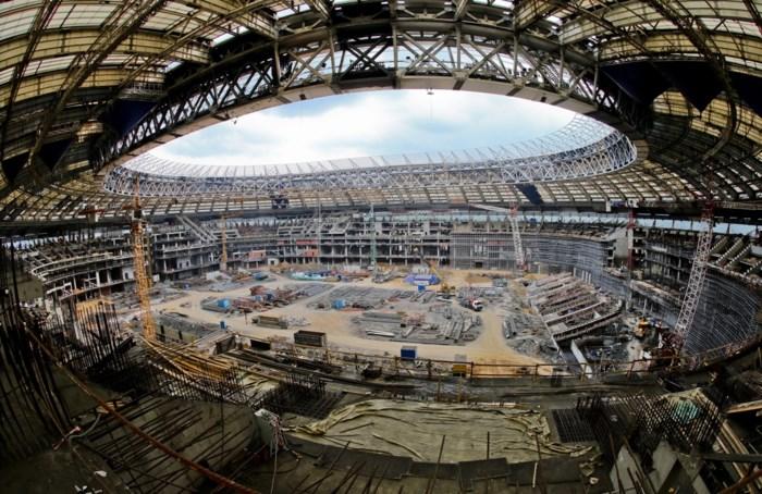 Brand uitgebroken in toekomstig WK-stadion in Moskou