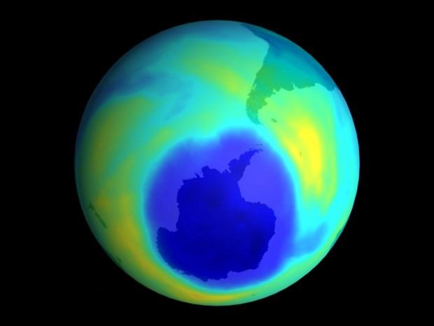 Gat in ozonlaag weer erg groot