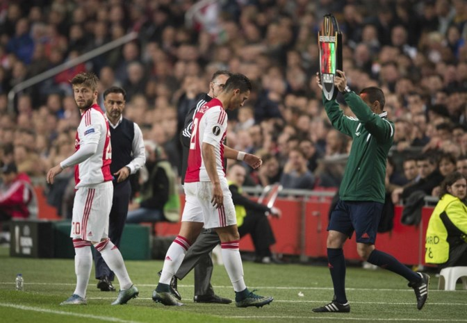 Ajax moet topschutter El Ghazi enkele weken missen