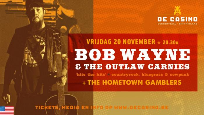 WIN 3 tickets voor Bob Wayne in De Casino
