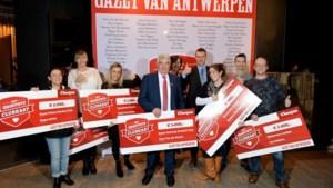 IN BEELD. Gazet van Antwerpen huldigt winnaars 'Het Grootste Clubhart'