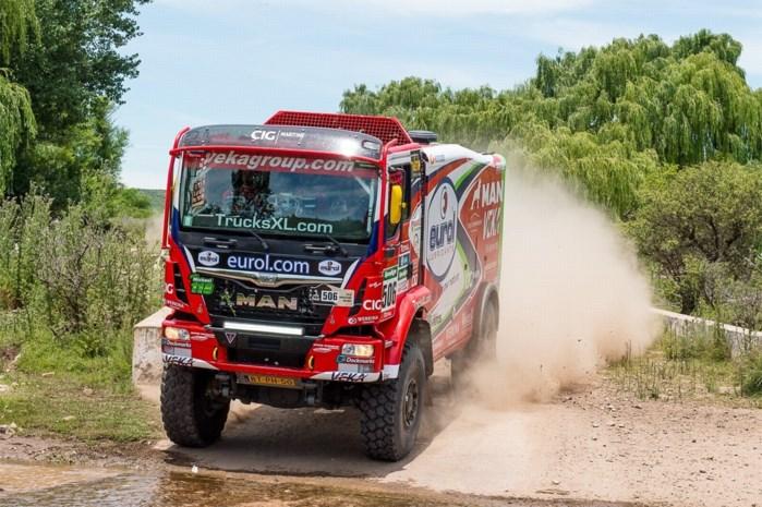 DAKAR. Nederlands-Belgisch trio Stacey-Bruynkens-Van Der Vaet finisht als 2e bij vrachtwagens