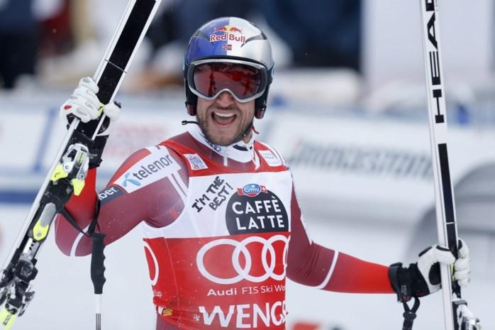 Aksel Lund Svindal skiet naar zege in Wengen
