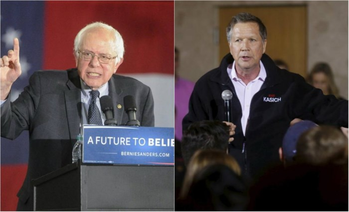 Sanders zou elke Republikein vlot verslaan, Kasich meest verkiesbare Republikein